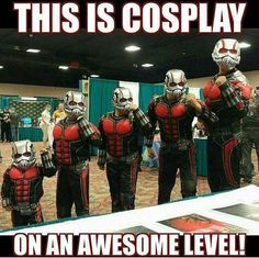 """Woahh!!! An Ant-Man cosplay that makes it look like he's shrinking!!! THIS IS TOO EPIC!!! #Cosplay Amazing girl superhero. I'd be happy to welcome a physical <a href=""""https://hembra.club/"""">superhero</a>"""