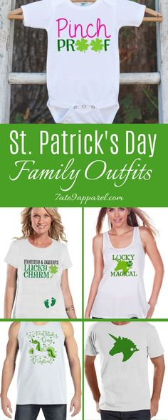 St. Patricks Day Shirts or Outfits for the Whole Family. Shop St. Patricks Day Outfits and Shirt for you (for her, for women, for girlfriends, for the wife). We have cute, classy, plus-size, funny, meaningful, casual, shirts that are great for work, for school, for teens, for college. They will look perfect with your jeans. St Patricks Day Quotes, Shirts With Sayings, Casual Shirts, Tee Shirts, Outfit Of The Day, Girlfriends, Onesies, I Love You, Cricut