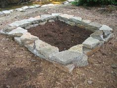 How to Build a Stone Raised Bed.  Great idea using stone rather than wood which warps & shifts. Home & Garden Television