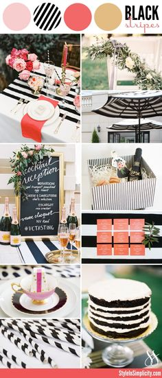 My current wedding trend crush - bold black and white stripes. The best part? This modern spin on a timeless color palette lends itself beautifully to both formal and whimsical wedding aesthetics. I especially love the look of black and white stripes paired with pops of pink, coral, and gold or brass accents