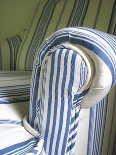 Modern Striped Chair- The End | threeboys.net
