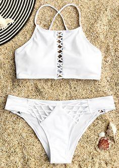 Cupshe Guardian Angel Lace-up Bikini Set Brazilian Beach Bathing Suit Push Up Swimwear Biquini monokini Maillot De Bain Bathing Suits For Teens, Summer Bathing Suits, Cute Bathing Suits, Summer Outfits, Cute Outfits, Bikini Outfits, Beachwear, Swimwear, Cute Swimsuits