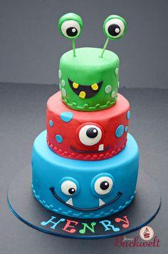 Monster Torte / cake – Jennys Backwelt - New Site Halloween Birthday Cakes, Dessert Halloween, Halloween Cake Pops, Halloween Treats, Scary Halloween, Halloween Party, Raspberry Smoothie, Apple Smoothies, Cookies Roses