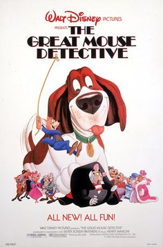 The Great Mouse Detective opened on this day in 1986! One of my faves as a kid!