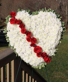 Bleeding heart sympathy floral arrangement