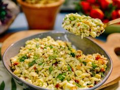 Food network recipes 228205906106749702 - Sunny's Scallion Spaetzle Recipe. Try replacing flour with almond flour baking mixture. Source by missyhol Kitchen Recipes, Cooking Recipes, Chef Recipes, Meal Recipes, Family Recipes, Recipies, Dinner Recipes, Healthy Recipes, Food Network Recipes