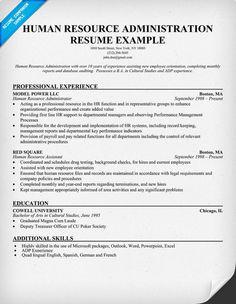 human resource administration resume resumecompanioncom hr - Resume Companion