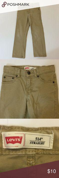 bf40ed7529efa Levi's 514 Straight Boys Size 7 Jeans Levi's 514 Straight Tan Jeans Boys  Size 7.
