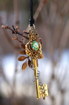 Forest of Magic Key Necklace by *KeypersCove on deviantART