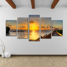 Sunset... Bruce Bain 'Key's Sunrise' 5-piece Set Canvas Wall Art | Overstock.com Shopping - Top Rated Ready2hangart Canvas