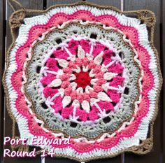 Zooty Owl's Crafty Blog: Seaside Winter Blanket: Square 12 Port Edward