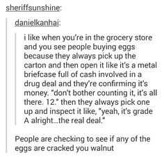 "I actually knew this, and do this, but it's funny how they described it… Also 'walnut' is my new favorite insult.<<<You walnut. Its like ""you goofy grape"" Funny Pins, Funny Shit, The Funny, Hilarious, Funny Stuff, Random Stuff, Random Things, My Tumblr, Tumblr Funny"