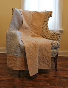Whole cloth quilt by Heidi Parkes. http://heidiparkesart.blogspot.com