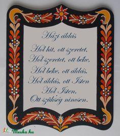 Meska - Házi áldás - tábla Kiokumitsu kézművestől Mirrors, Diy And Crafts, Words, Frame, Projects, Poster, Inspiration, Home Decor, Life