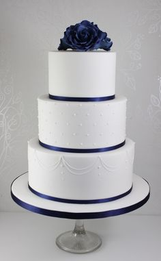 Navy Blue Wedding Cakes, Gay Wedding Cakes, Pretty Wedding Cakes, Fondant Wedding Cakes, Floral Wedding Cakes, Amazing Wedding Cakes, Wedding Cakes With Cupcakes, Wedding Cakes With Flowers, Wedding Cake Designs