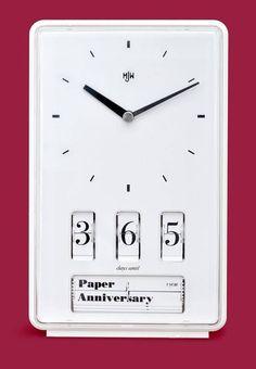 "Wedding Anniversary ""Paper"" Clock"