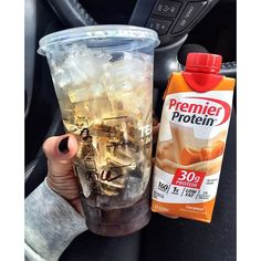 2 shots of espresso Over ice in a venti cup Caramel premier protein shake. - 2 shots of espresso Over ice in a venti cup Caramel premier protein shake. Protein Smoothies, Protein Shake Recipes, Protein Snacks, Low Carb Recipes, Fruit Smoothies, Atkins Protein Shake, Protein Shake Cup, High Protein, Vanilla Protein Shakes
