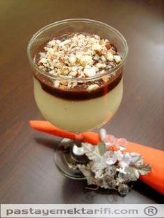 Çikolata Soslu Muhallebi resimli yemek tarifi, Helvalar - Diğer Tatlılar tarifleri
