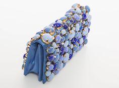 Prada Blue Satin Raso Pietre Clutch, Spring - Summer 2011 | From a collection…