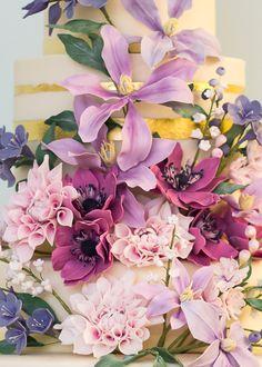 English Country Garden Wedding Cake by Rosalind Miller Cakes London