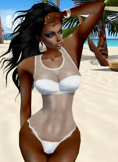 taken on imvu, swimsuit, avatar