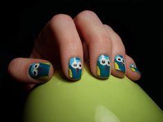 owl #nail #nails #nailart