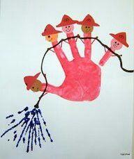 Firemen handprint