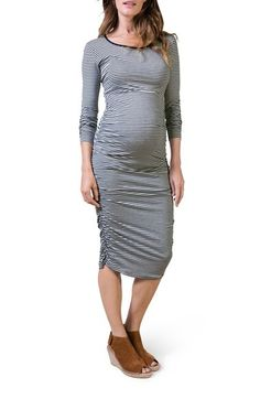 3c1dfe3cd541d Isabella Oliver  Betty  Stripe Maternity Dress available at  Nordstrom  Striped Maternity Dresses