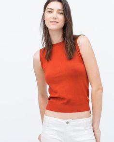 SLEEVELESS KNIT TOP-Tops-Knitwear-WOMAN | ZARA United States