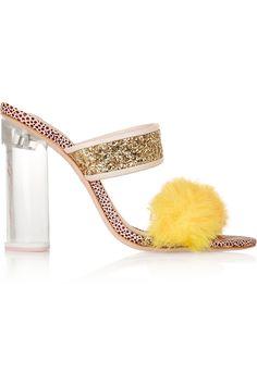 Sophia Webster x Shrimps #glitter #feathers #lucite #shoelust