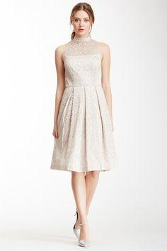 Cynthia Steffe Sadie Tea Length Metallic Lace Dress by Non Specific on @HauteLook