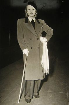 Marlene Dietrich - coat inspiration for fall