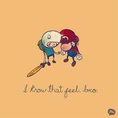 i got 99 problems but a princess aint one! - hehe. Aww princess bubblegum Finn's a catch.... Peach could do better than Mario 0_0