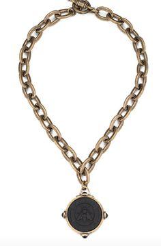 French Kande Abeille Medallion Necklace