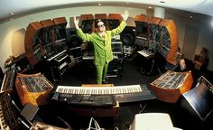 Mark Mothersbaugh in his studio at Mutato Muzika, Hollywood 1