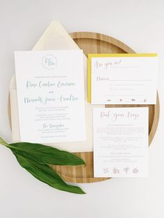 Minimalist Wedding Invitations | oh my! designs by steph