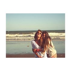 Pix For > Best Friends On Beach Tumblr ❤ liked on Polyvore featuring pictures