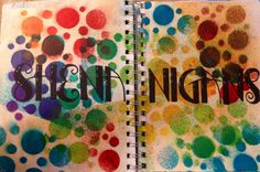 Art journal. Dylusions, stencils, and sharpie.