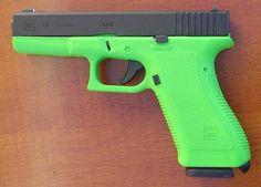 Custom glock LIME GREEN MAKES ME HAAPPYY!!!!!!!!!!!