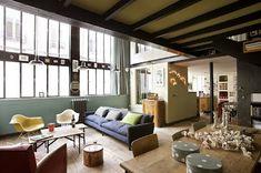 ATELIER RUE VERTE , le blog: Aux portes de Paris, un loft d'artistes