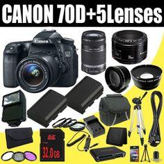 Canon EOS 70D 20.2 MP Dual Pixel CMOS... $1,481.19 #topseller