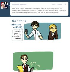 """I just love that Mycroft is in Sherlock's phone as """"absolute rubbish."""" That is all. XD"""