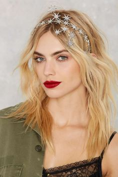 Constellation Pavé Star Headband - Accessories | Hair + Hats