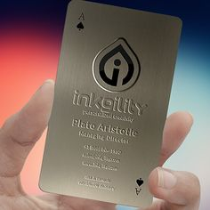 MetalBusinessCards from @inkgility