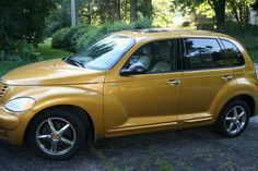 My new ride 2002-PT Cruiser Dream edition-made 7,500 of this series. Inca Gold. Biege leather with gold trim.