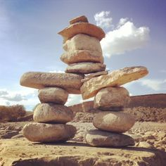 Inukshuk at Lake Diefenbaker Stacked Stones, Patio Design, Scenery, Traditional, Rock, Chocolate, Yard Design, Landscape, Skirt
