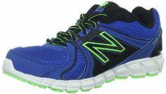 New Balance KJ750 Y Running Shoe (Little Kid/Big Kid),Blue/Black,4 M US Big Kid