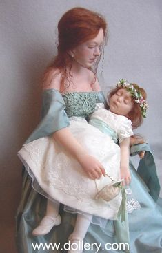 """Joan Blackwood. """"After the Wedding""""  Matron of Honor mother holding her sleeping daughter, the Flower Girl..."""