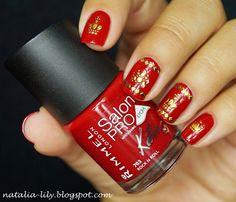 Born Pretty Store: Gold 3D Nail Art Sticker Embossed Crown Chain Grid Leopard Patterned Sticker  http://natalia-lily.blogspot.com/2014/07/born-pretty-store-gold-3d-nail-art.html