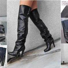 2. How to Make Over the Knee Leather Boots - DIY